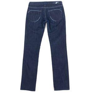 EARNEST SEWN Low-Rise Harlan Straight Leg Jeans
